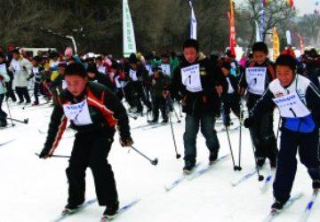 瓦萨教育项目教大学生怎么越野滑雪
